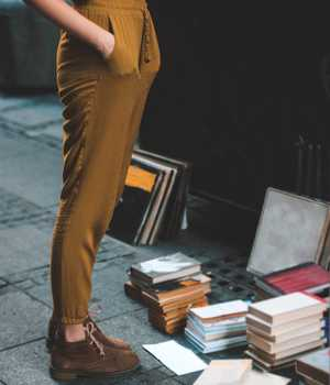 Brown-yellow trousers