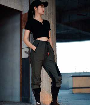 Black stylish trousers